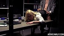 Secretária coroa safadinha fudendo gostoso com seu chefe tarado