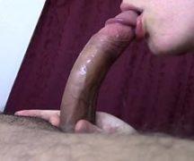 Esposa no sexo oral com garganta profunda