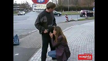 Flagra de Sexo Oral na rua e no onibus