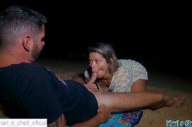 Porno na praia do brasil casal fodendo pela noite com tesão